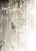 Vintage Happy Merry Christmas Greeting Card. Vertical Design, Right Side Isolated