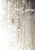 Vintage Merry Christmas Greeting Card. Vertical Design, Isolated Left Side