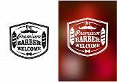 Vintage barber shop welcome banner design