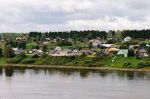 Small Russian Village On Sukhona River