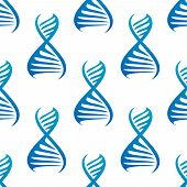 Blue DNA seamless pattern