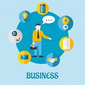 Business flat concept design