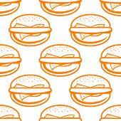 Cheeseburger seamless pattern