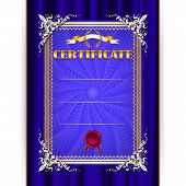 Vector Certificate On Textile Background