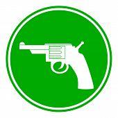 picture of revolver  - Revolver button on white background - JPG