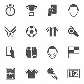 Soccer icons black