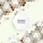 Geometric background, abstract hexagonal pattern vector