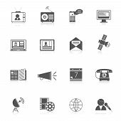 Media icons black set
