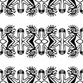 Black tribal ethnic pattern, vector background.