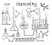 stock photo of physical education  - chemistry set - JPG