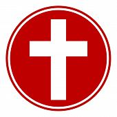 Religious Cross Button