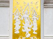Thailand Style White Angel Bas-relief