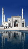 Stylized Photos Of A New Mosque In Astana. Kazakhstan.