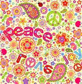 Hippie wallpaper. Raster copy