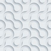 Abstract 3d seamless background. See others in a Perforated Paper Set. Vector EPS10.