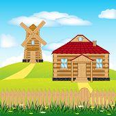 Wind Mill On Hill