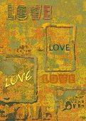 Love poster retro texture