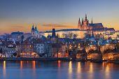 Landscape of Charles Bridge in Prague