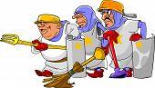 Funny Cartoon Knights.eps