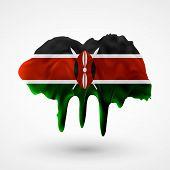 Flag of Kenya painted colors