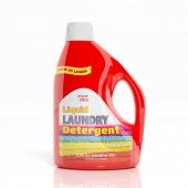 picture of detergent  - 3D Laundry Detergent plastic bottle isolated on white background - JPG