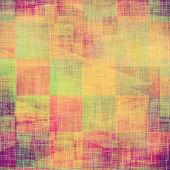 Old designed texture as abstract grunge background. With different color patterns: blue; green; purple (violet); orange; red; brown; yellow