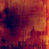 Old background with delicate abstract texture. With different color patterns: orange; brown; red; violet