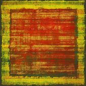Old, grunge background texture. With different color patterns: green; orange; red; brown; yellow