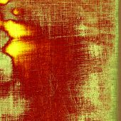 Old designed texture as abstract grunge background. With different color patterns: green; orange; red; brown; yellow
