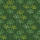 Decorative trees seamless pattern. Vector illustration for design of gift packs, wrap,  patterns fabric, wallpaper, web sites and other.
