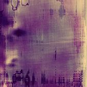 Grunge aging texture, art background. With different color patterns: gray; purple (violet); brown; yellow