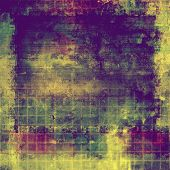Designed grunge texture or background. With different color patterns: blue; green; purple (violet); yellow