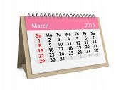 Monthly Calendar For Year 2015. March