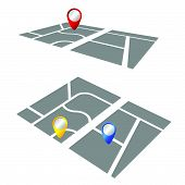 Pointer On The Map Color Vector