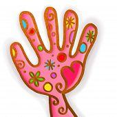 Pink Hand Paint Doodle