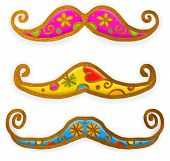 Moustache Paint Doodles