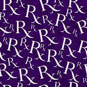 Purple And White Prescription Symbol Pattern Repeat Background