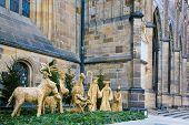 Christmas Nativity Scene In Prague, Prague Castle, Czech Republic
