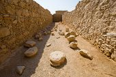 stock photo of masada  - One of the storerooms on the top of the rock Masada in Israel - JPG