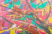 picture of acrylic painting  - Fragment abstract modern painting background with expressive splashes of paint - JPG