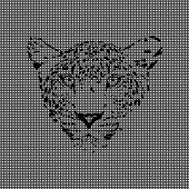 stock photo of mimicry  - vector illustration cheetah made from textured background - JPG