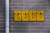 picture of valves  - Gate valve sign for natural gas pipes in Germany - JPG
