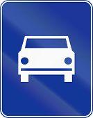 image of traffic rules  - Polish traffic sign  - JPG