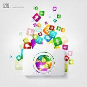 pic of social system  - Photocamera icon - JPG