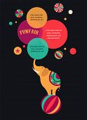 image of funfair  - vintage hipster circus poster - JPG