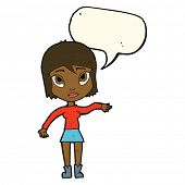picture of waving hands  - cartoon woman waving hand with speech bubble - JPG