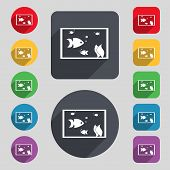 image of long-fish  - Aquarium Fish in water icon sign - JPG