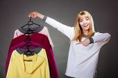 picture of clothes hanger  - Retail and sale - JPG
