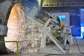 pic of blast-furnace  - clean blast furnace inside of steel plant - JPG