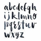 picture of alphabet  - English alphabet watercolor brush mascara - JPG